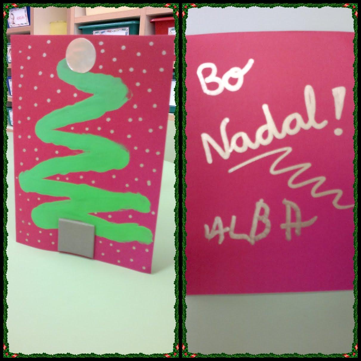 Cole de colores postales navide as 2011 - Postal navidena infantil ...