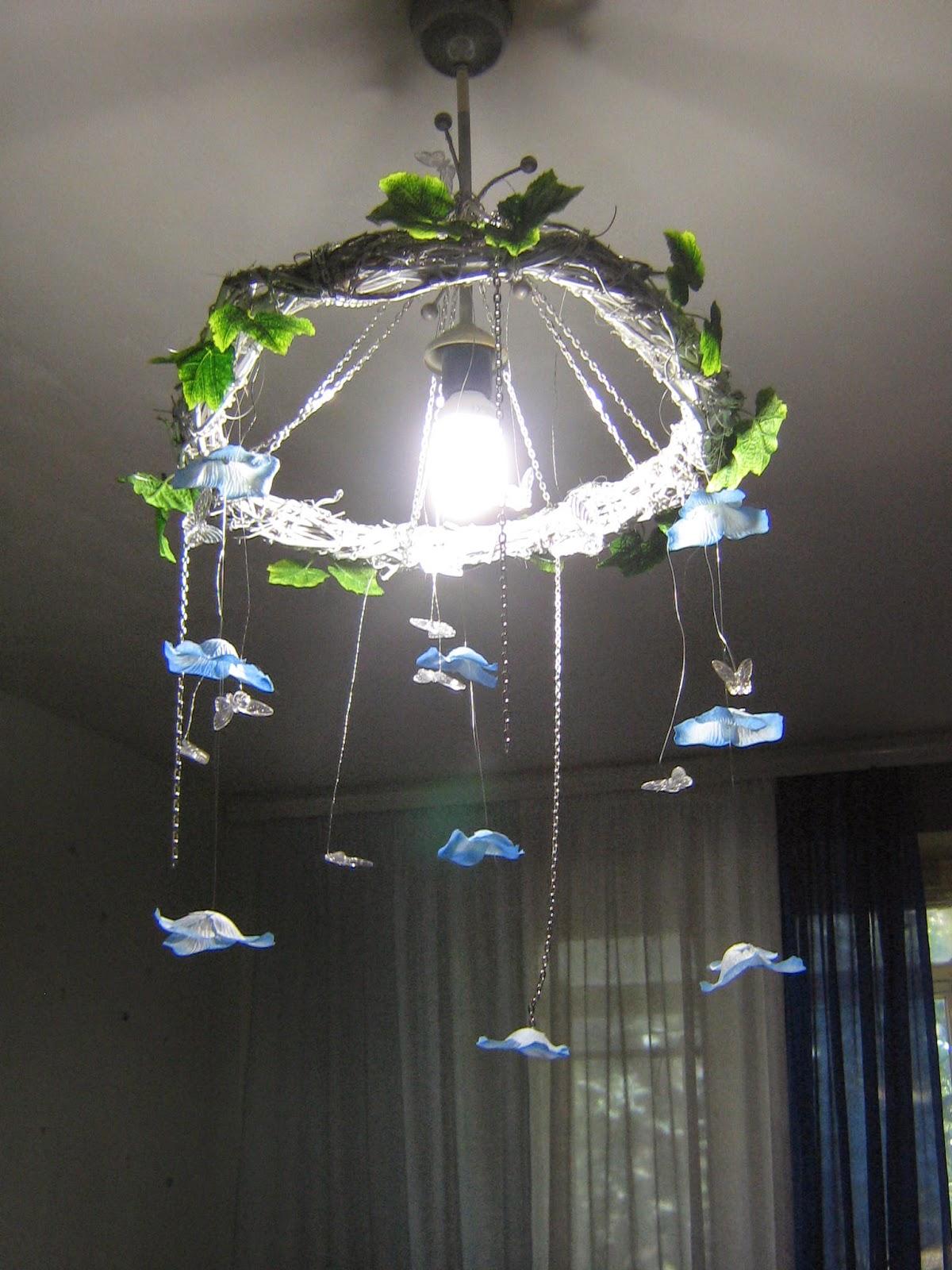 Бабочки украшение на люстру своими руками 69