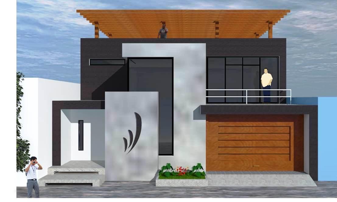 Fachadas de casas hermosa fachada moderna for Disenos de casas actuales