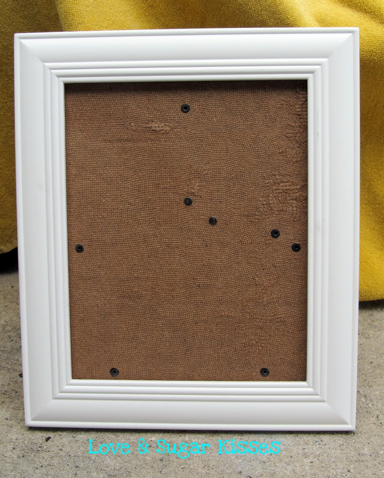 White Wood Frame : wooden frame i had in my box of extra frames