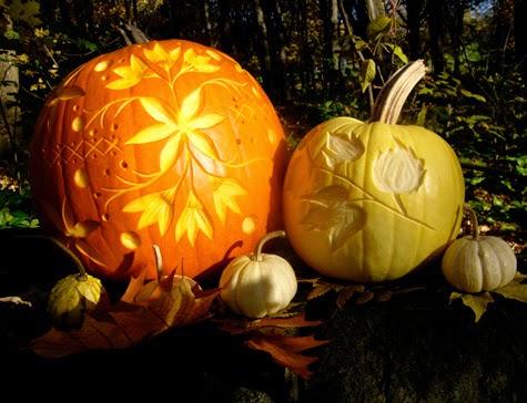 Como Tallar Calabazas para Halloween, Diseño de Flores