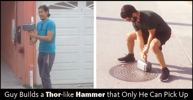 Science: A Thor-Like Hammer Builds By A Guy That Only He Can Pick Up
