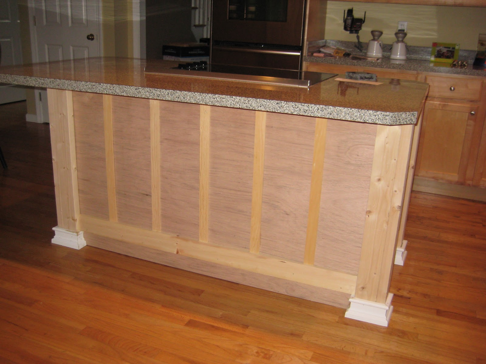 Board and Batten On Kitchen Island