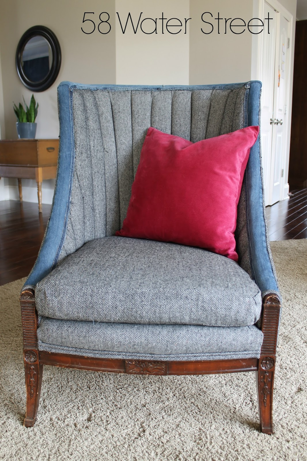 Channel Back Chair, Upholstery, Diy, Preppy, Furniture Makeover