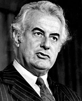 "Gough Whitlam (1916-2014) :  <br> the greatest ""Aussie"" PM (1972-1975) passed away at 98."