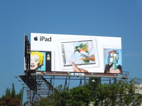 Apple iPad pop art billboard Summer 2013