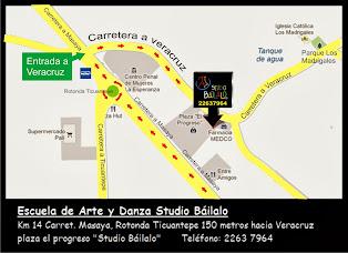 """Mapa de Ubicación """"Studio Báilalo"""""""