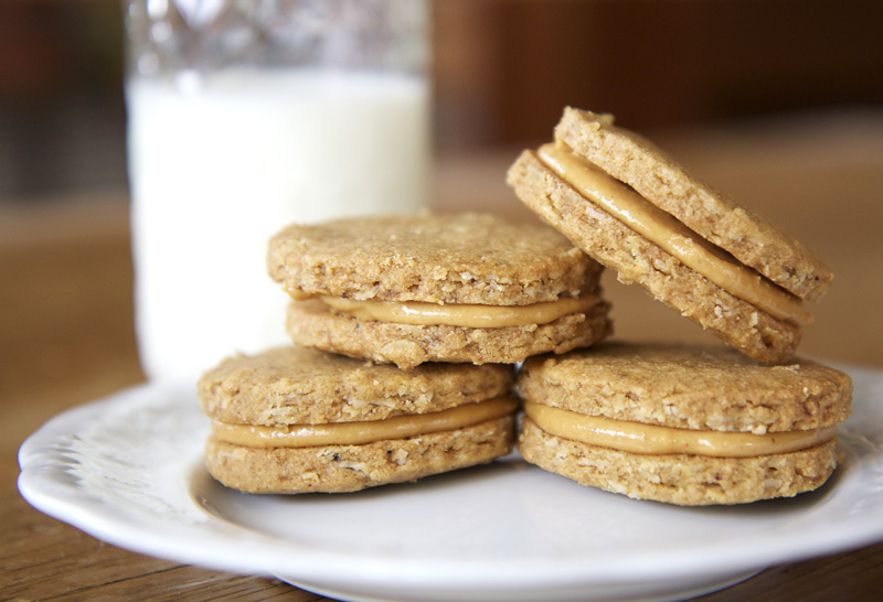 The Flour Sack: Peanut Butter Sandwich Cookies