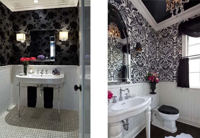 Il bagno bianco e nero arredamento facile - Bagno bianco nero ...