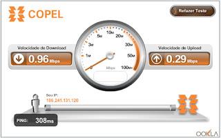 No site da Copel é possível testar a sua conexão de forma segura.