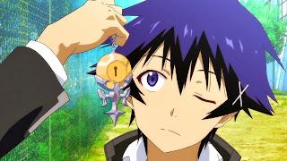 Screen z anime Nisekoi przedstawiający Raku ora jego medalion otwierany kluczykiem