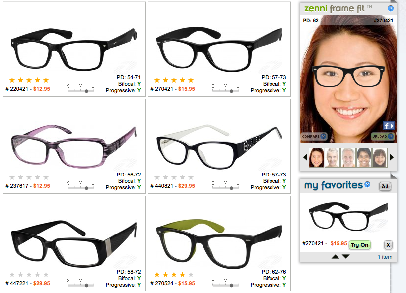 Eyeglass Frames For A Wide Face : Unpaid Advertisement: Zenni Optical