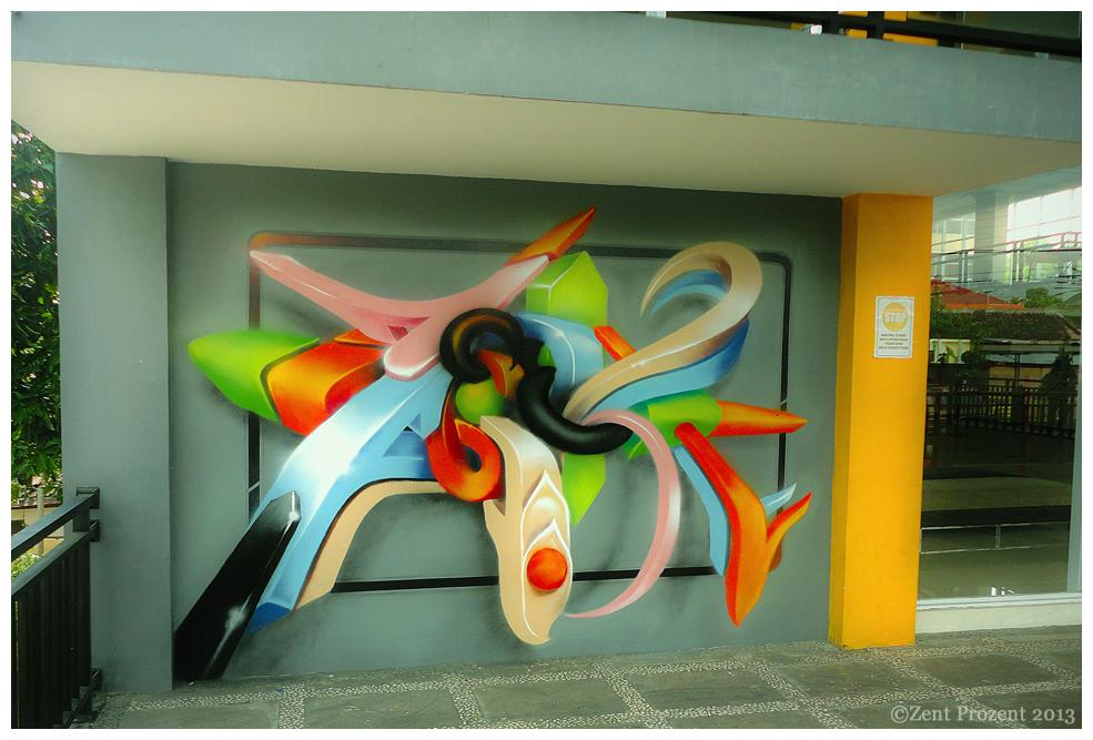 3D Spraypaint Art - Zent Prozent 2013