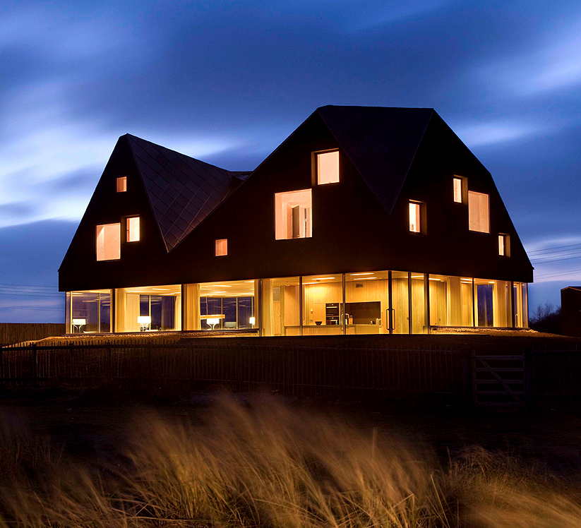 Japan architecture the dune house a new stunning modern - The dune house the floating roof ...