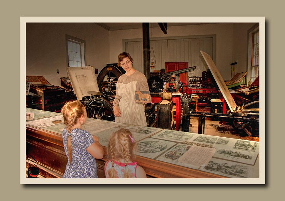 Black Creek Pioneer Village Printing Office