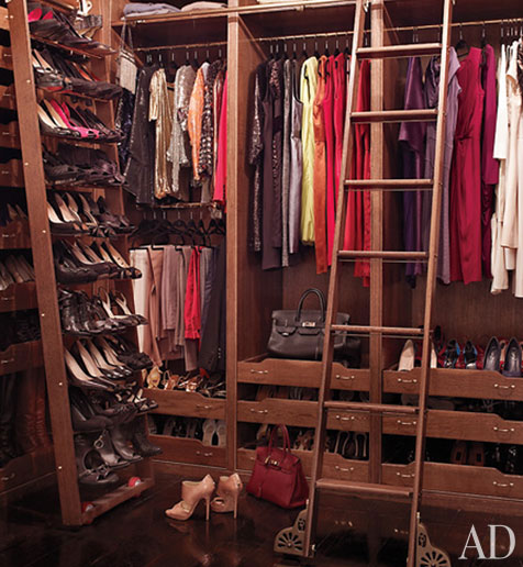 Brooke Shields Closet from Architectural Digest