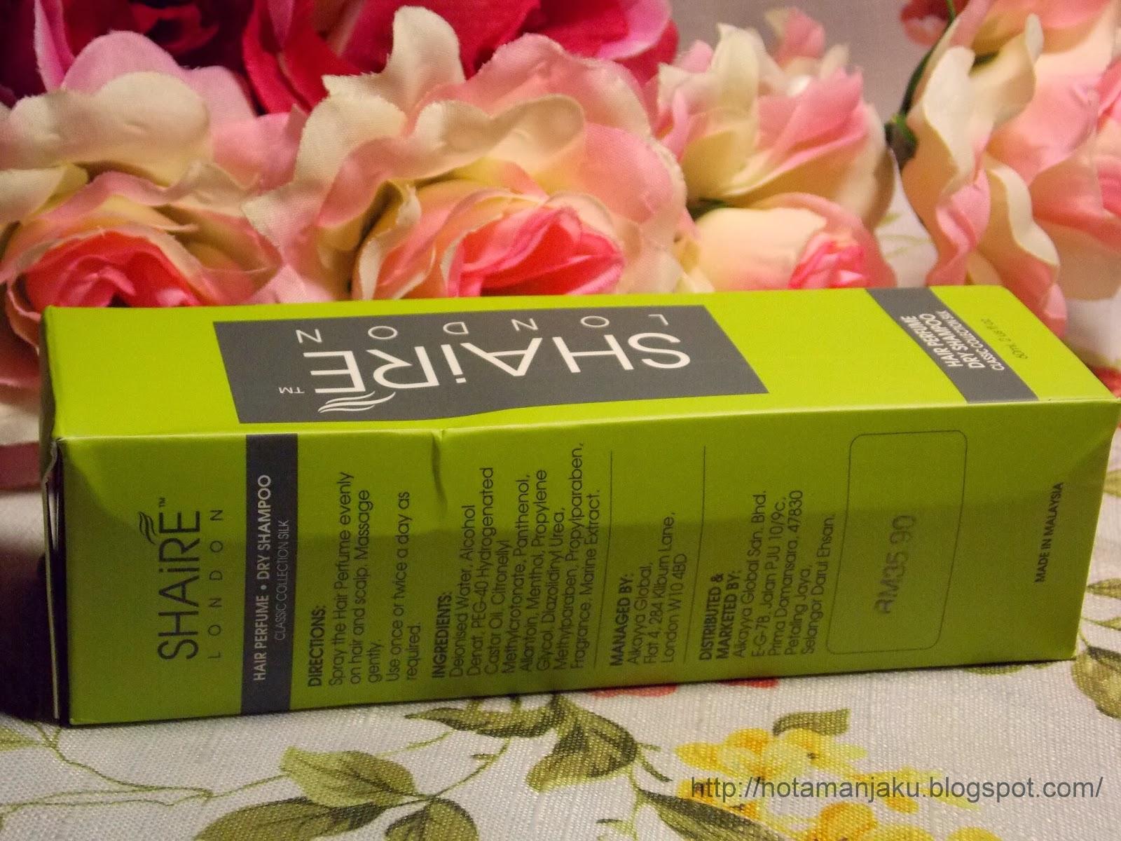 Hair perfume Dry shampoo