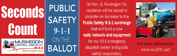 Muskegon Central Dispatch 9-1-1 Ballot Proposal