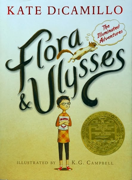 Flora & Ulysses: The Illuminated Adventures is a Newbery winner and a fabulous book.  This book earned all 5 stars in my book.  For the review: http://alohamoraopenabook.blogspot.com/