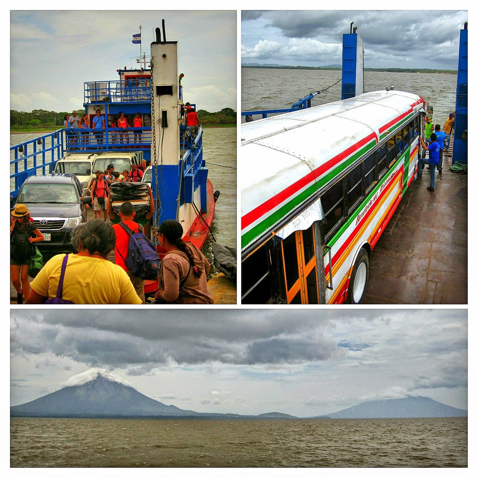 Ferry y vistas de Ometepe
