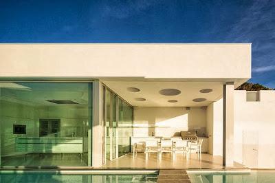Diseño de techo con circulos de casa