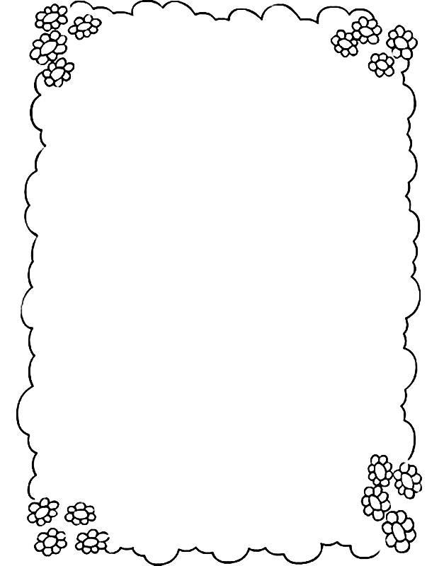 Bordas Em Preto E Branco Para Textos E Mensagens 7