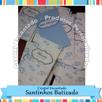 Santinhos para Batizado