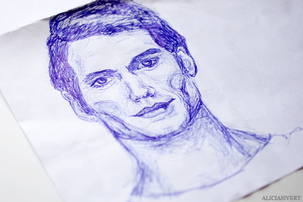 aliciasivert, alicia sivertsson, superman, stålmannen, henry cavill, clark kent, man of steel, skiss, sketch, scribble, teckning, porträtt, bläck, ink