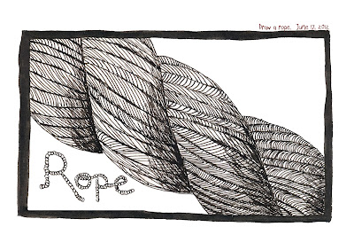 Rope by Ana Tirolese - Pen and Ink