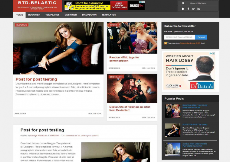 Belastic Responsive Blogger Template Free Download