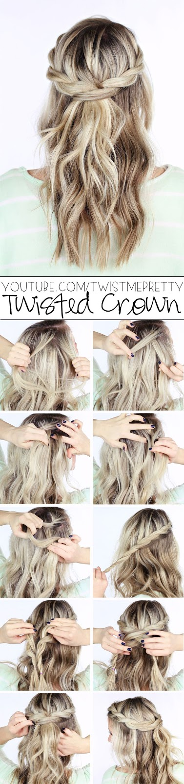 see more Hot twisted crown hairstyle
