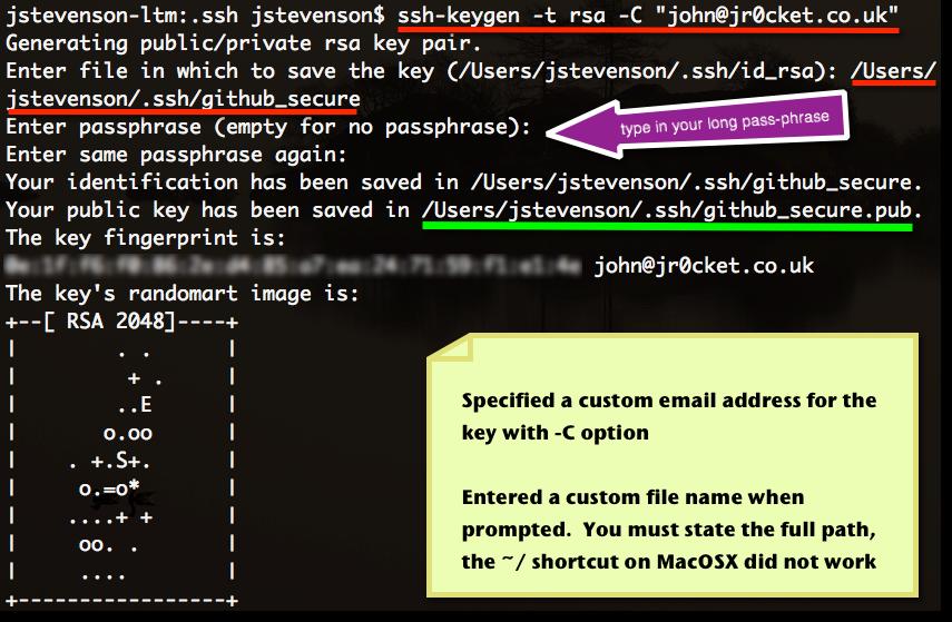 configure ssh key github