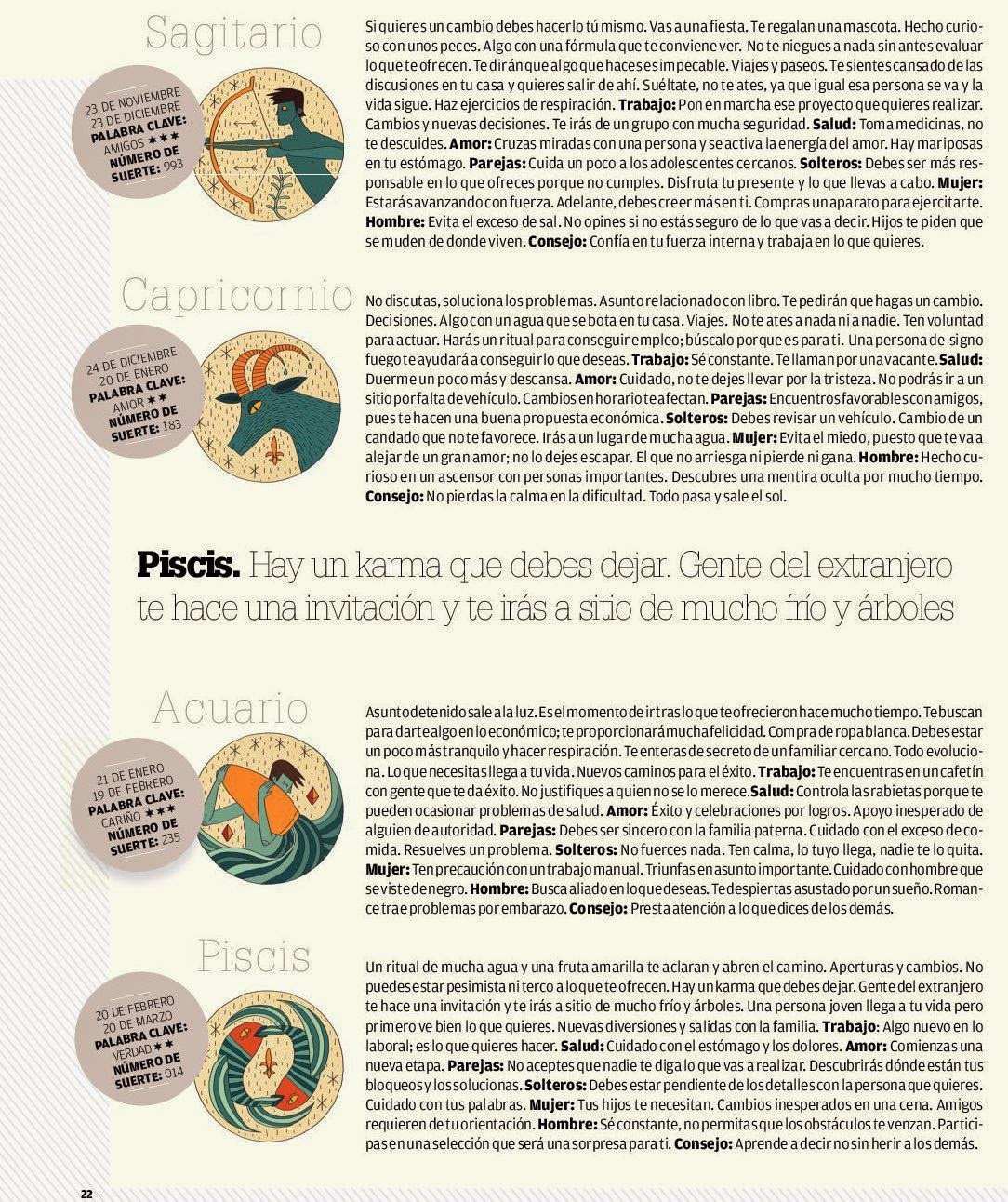 ... ,Acuario,Piscis del 6 al 12 de abril de 2014 Adriana Azzi Sedes