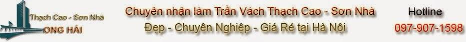Thợ Làm Trần Vách Thạch Cao Tại Hà Nội
