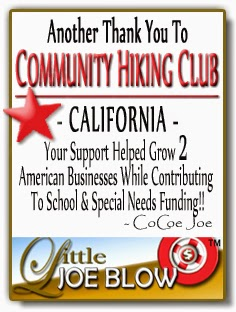 Thank You Community Hiking California from Little Joe Blow
