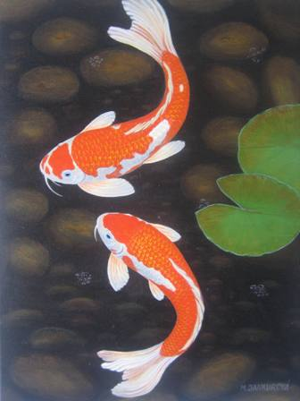 Amulet charm magic and supernature money for Keeping koi fish