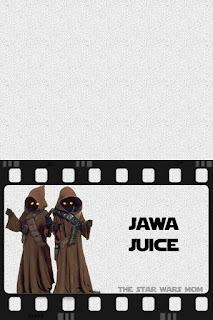 Star Wars Party Drink Label Jawa Juice Free Printable Signs