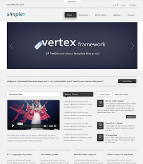 Simplex - July 2011 Joomla Club Template For Joomla 1.7