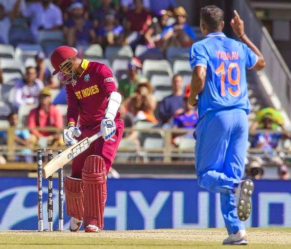 West all out for 182 runs. India vs West Indies