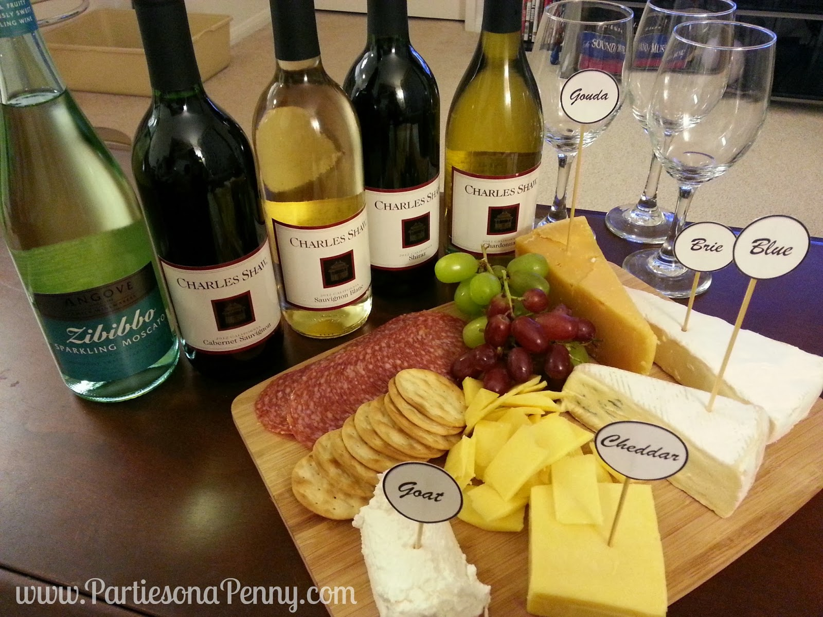 Cheese and Wine is a classic pairing and taste even better when consumed together. The key to pairing wine and cheese is marrying the texture acidity ... & Parties On A Penny: Wine and Cheese Pairing with Two Buck Chuck