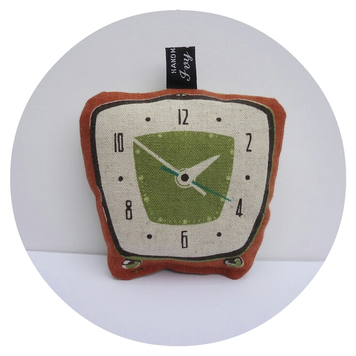 Clock print lavender bag by Ivy Arch