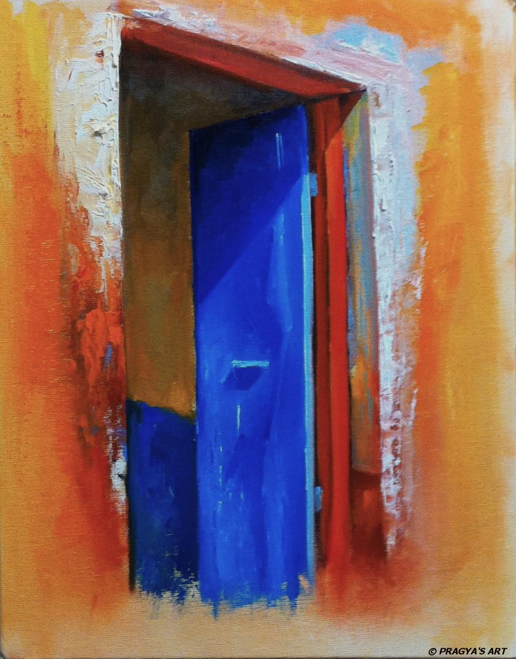 The blue door & Pragya\u0027s Palette: The blue door