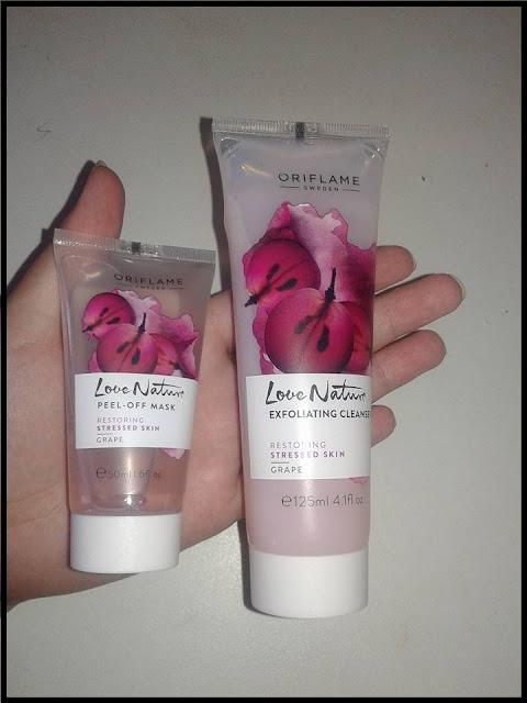 Oriflame Love Nature Restoring Stressed Skin Grape Products Review