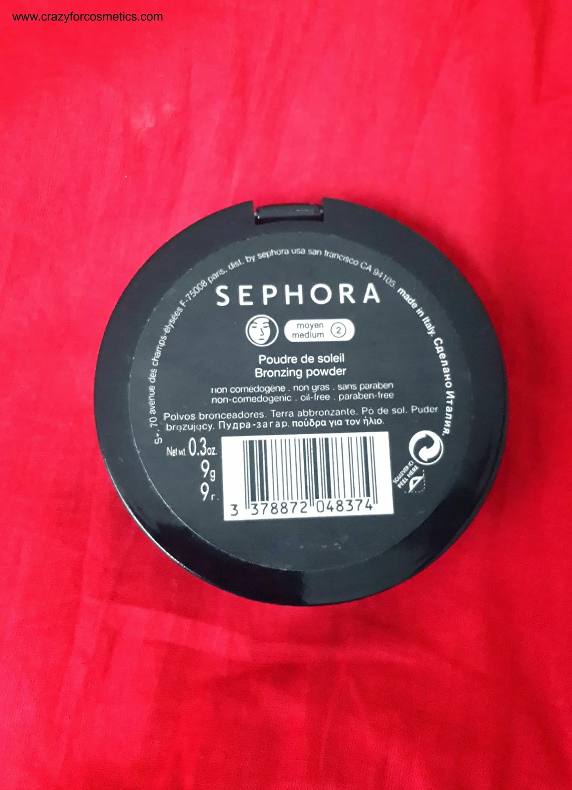 Sephora Bronzing Powder in Shade Medium Review and Swatches- Sephora Bronzer Powder in shade Medium review- Sephora in Paris- Sephora shopping- Sephora cosmetics bronzer powder- Sephora Conntour powder- MAtte bronzer powder