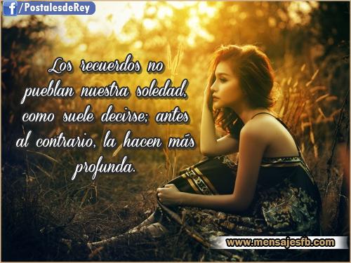 Imagenes con frases de soledad - Mensajes para Amor   Postales ...