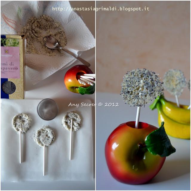 lollipop di parmigiano e semi di papavero: il mio appetizer in omaggio ad una cena 2.0