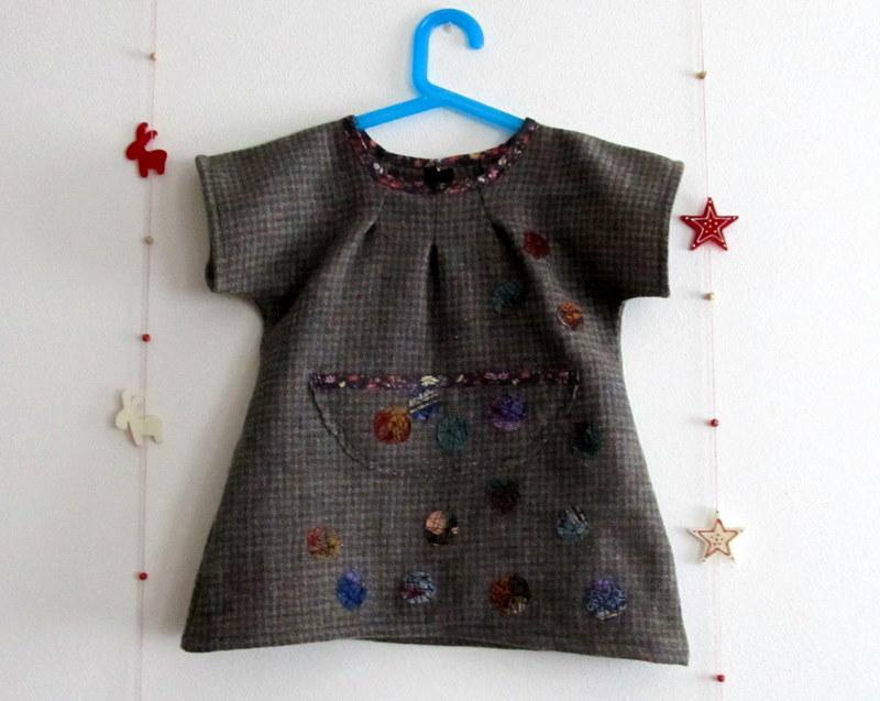 Orlosubito reciclar retazos 4 vestido de lana - Reciclar restos de lana ...