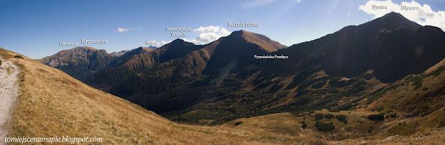 kamienista, bystra, błyszcz, siwa przełęcz, panorama, widok, tatry panorama, widok, tatry zachodnie, tatry