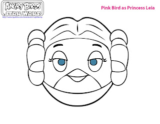 Angry Birds Star Wars Coloring pages - Pink Birds