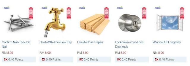 Maxis Kongsi Home RM8 Product Listing